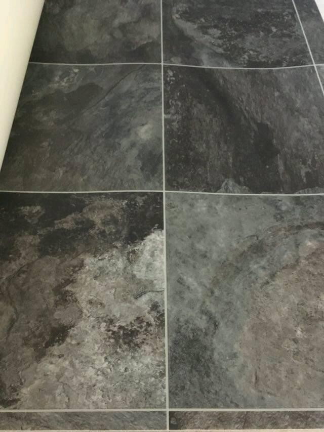 Trinity Fossil Slate Lino Vinyl Flooring