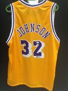Magic Johnson Autographed Custom Jersey