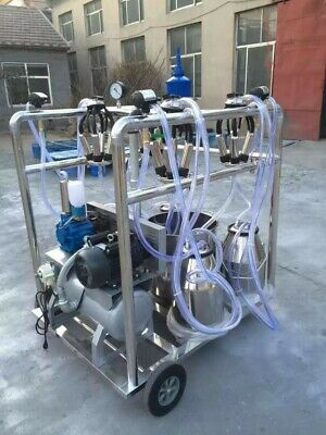 4mul8 Machinery Self-cleaning Quad-tank 4 Cowgoat Milking Machine - 6.6 Gallon