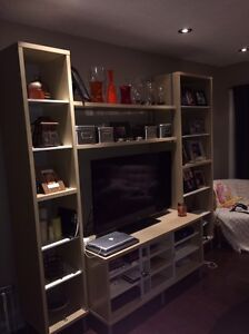 IKEA TV stand and shelving