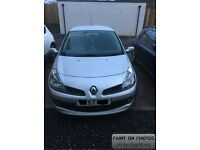 Renault Clio 1.6 with 11 months M.O.T