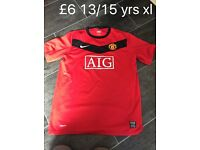 Manchester United football shirt boys
