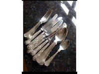 Full set of Smith Seymour Ltd cutlery in The 'King's Pattern'