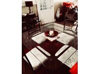 Wrought iron Glass dinning table and chairs