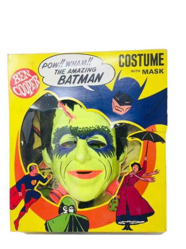 Ben Cooper Herman Munster Munster's TV Show Costume Mask SZ 16-18 W/Box Horror