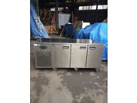 Commercial bench counter pizza fridge for shop pizza meat nsjha