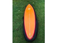 Beautiful retro single fin surfboard