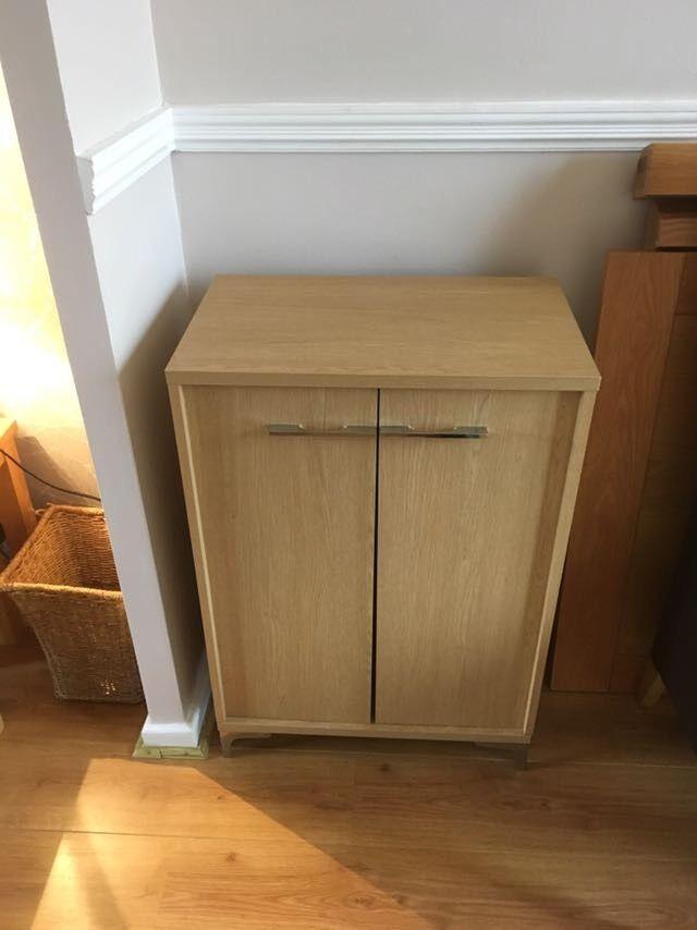 DVD cabinet - light oak