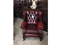 Chesterfield wing chair (delivery available)