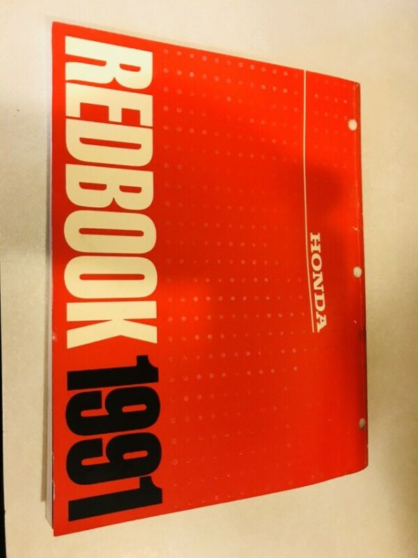 Vtg Honda Motors Division Redbook 1991 distributed dealers only Red book color
