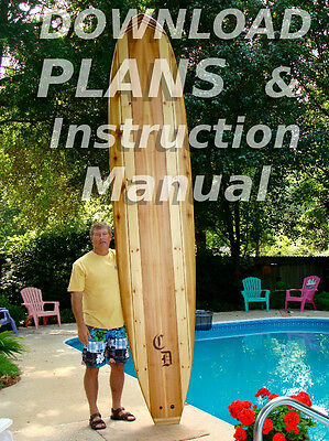 Build Your Own Hollow Wood Stand-Up Paddleboard 11' SUP Plans for Paddle Board