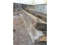 Very long Solid wood beams from a roof 8by3