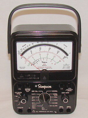 260-8p Simpson 12391 Relay Protected Black Analog Multimeter
