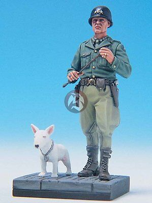 Legend 1 35 Us General George S  Patton   His Dog Willie Vignette W Base Lf0086