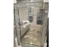 Crushed diamond in frame mirror brand new in box