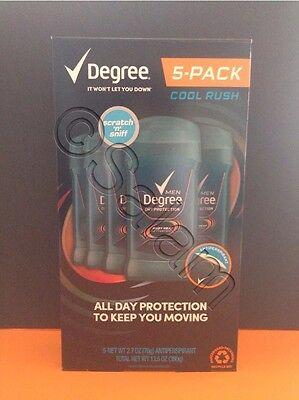 Degree Men Invisible Solid Antiperspirant Deodorant Cool Rush 2 7 Oz Lot 5 Pack