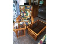 Armchairs (x2), coffee table and lamp table