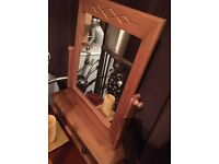 Beautiful pine mirror with drawer
