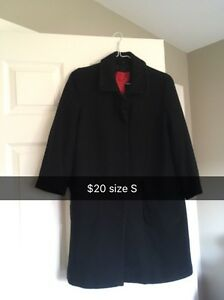 Black button up wool coat