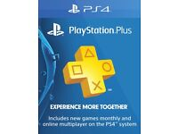 playstation plus 12 months (card)