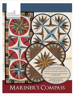 Anita Goodesign - Mariner's Compass Special Edition With book Embroidery Pattern