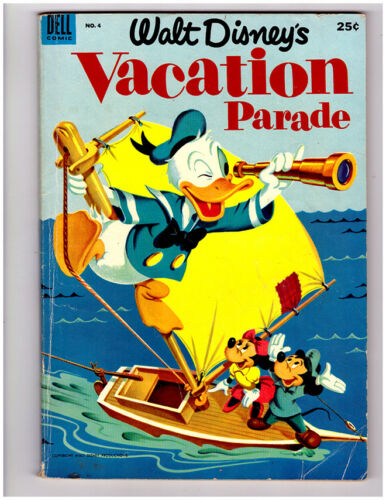 Walt Disney VACATION PARADE #4 in FN+ condition 1953 DELL giant Golden Age comic