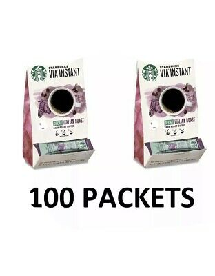 Starbucks VIA Ready Brew DECAF Italian Roast Coffee 100 count Best By