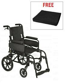 Wheelchair - BRAND RHEALTHCARE DASH LITE 2 - Folding Self Propelled - Lightweight - Dual Braked