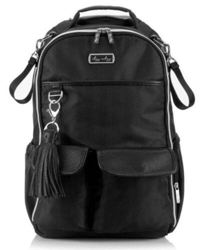 Itzy Ritzy Boss Baby Diaper Bag Backpack Changing Pad Black Herringbone NEW