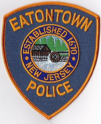 Eatontown Police Patch New Jersey NJ NEW !!!