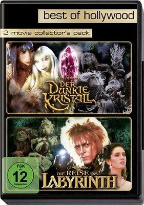 2 DVDs * Der dunkle Kristall + Die Reise ins Labyrinth * NEU OVP * 2 Filme
