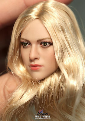 "1//6 European Blond Female Doll Figures Head Sculpt F 12/"" TBLeague PHICEN Body"