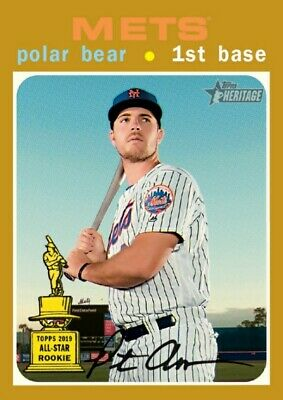 PETE ALONSO 2020 Topps Heritage Nicknames SP GOLD 5x7 /10 NEW YORK METS