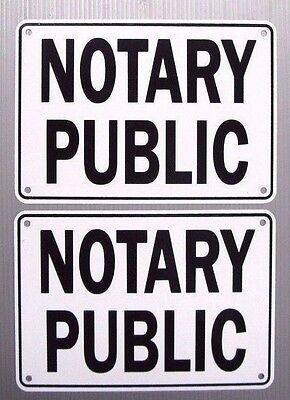Notary Public Service Sign 2 Sign Set Metal