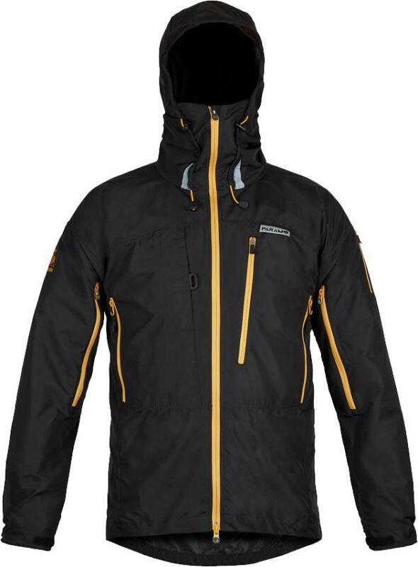 Paramo Mens Enduro Windproof Jacket - Black/Gold Zip