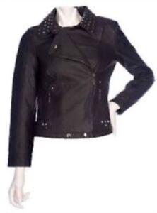 Kim Kardashian KKW Dash Vegan Motorcycle Jacket Plus XXL 2XL