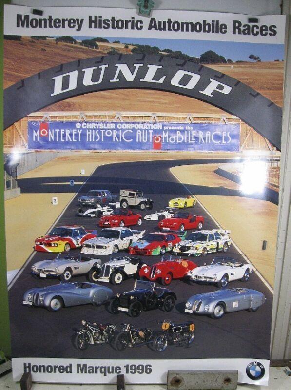 Vintage Poster 1996 Monterey Historic Automobile Races Dunlop