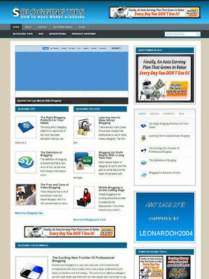 Blogging Tips Website For Sale With Affiliate Store Banners Free Hosting