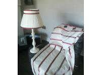 Laura Ashley 100% silk curtains and matching pair of lamps