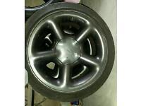 Ford escort cosworth alloy wheels c/w tyres