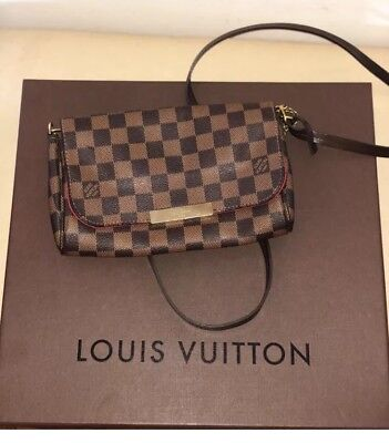 LOUIS VUITTON Favorite PM Damier Ebene Bag Handbag Pochette Clutch