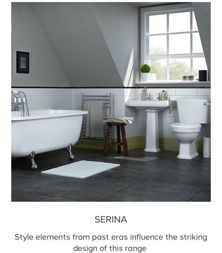 Freestanding Bath And Bathroom Set Brand New