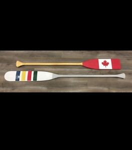 Rustic canoe Canadian paddles Wall art /cottage