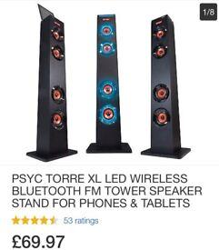 Psyc torre XL Led wireless Bluetooth speaker