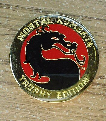 Mortal Kombat Trophy 1992 18K Gold Plated Pog Slammer Free Shipping