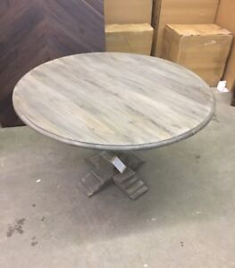 Grey Round Dining Room Table