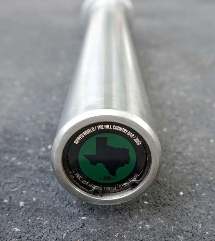 POWER BAR of TEXAS! E-Coat olympic barbell, 7ft, 45lbs hardened chrome IPF IWF