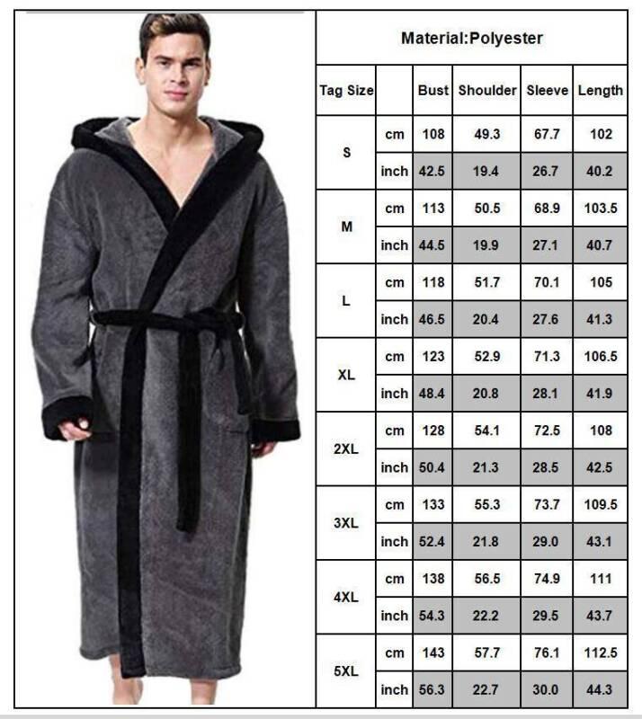 Mens Womens Fleece Bathrobe Gown Bath Robe