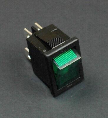 1  Dpdt Green Rocker Switch On-off 6a125v Lighted