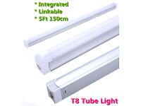 New Linkable 5Ft 150cm Integrated T8 LED Tube Light Ceiling Lamp Under Cabinet Cool White